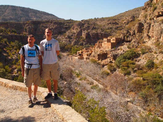 Mike and Adam with the first village of Wadi Bani Habib behind