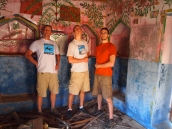 Mike, Adam and Alex in the painted room