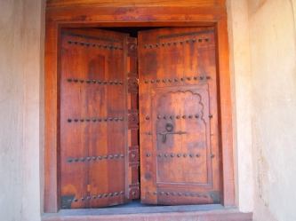 Massive doors in the fort