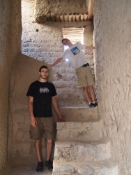 Alex and Adam inside Bahla Fort