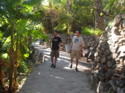 Alex and Adam strolling through
