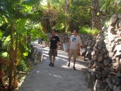 Alex and Adam strolling through