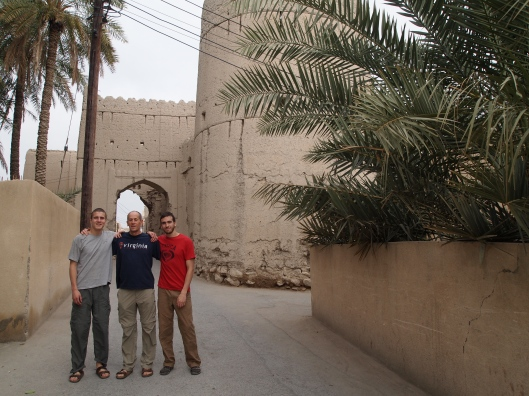 Adam, Mike and Alex at the gate to the Nizwa ruins