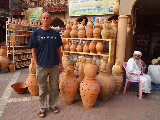 Mike at the pottery souq