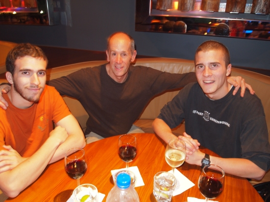 Alex, Mike & Adam enjoying our last meal together at the Left Bank in Muscat