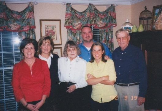 me, Joan, my mom, Rob, Stephanie, and Dad probably around the year 2000??