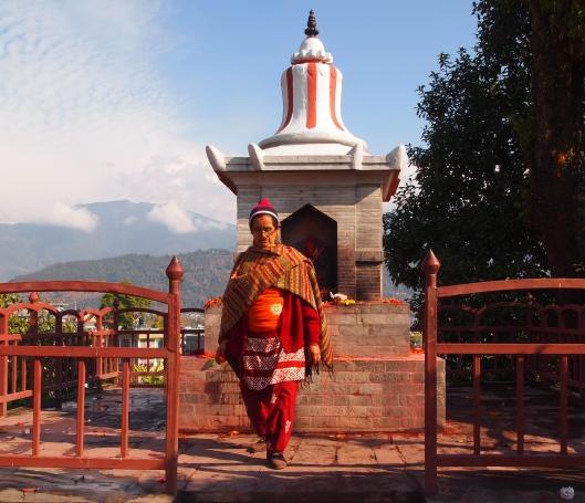 a unique-looking Hindu pilgrim in Pokhara, Nepal