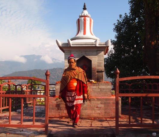 a unique-looking Hindu pilgrim in Pokhara, Nepal