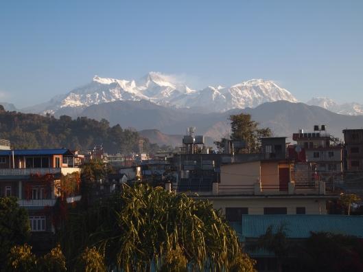 the Annapurna Range seen from Pokhara, Nepal