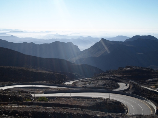 the winding road up Jebel Akhdar