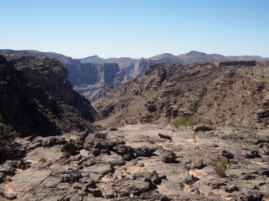 at the top of the dirt road, here are the canyons where we walked