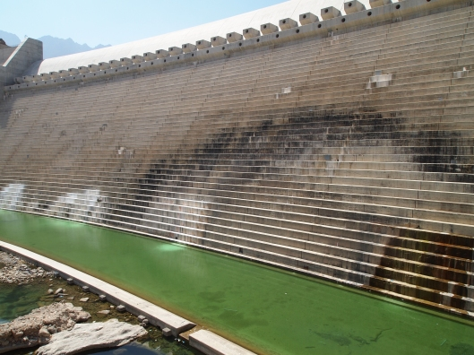 Wadi Dayqah dam from the bottom