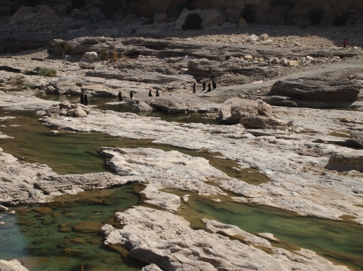 looking down the wadi from the dam