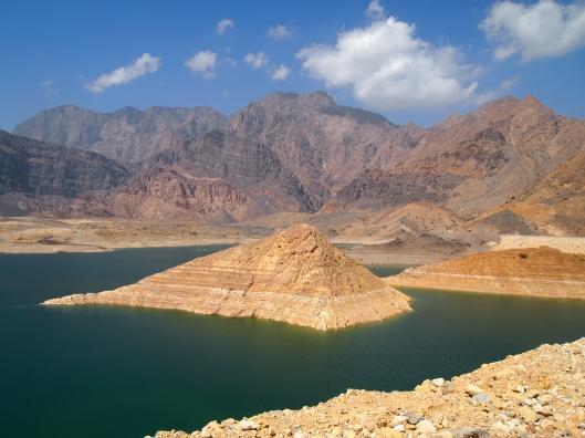 the lake created by Wadi Dayqah Dam