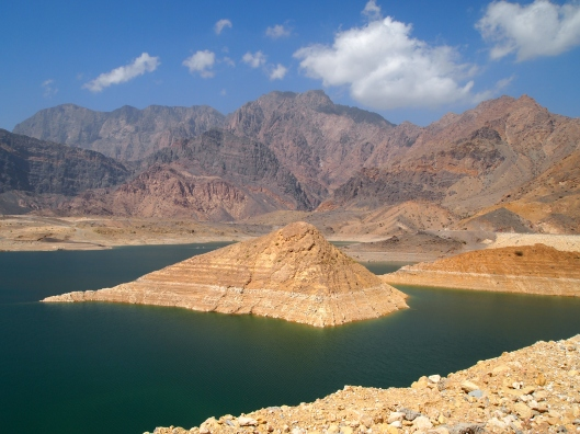 the lake created by Wadi Dayqah Dam