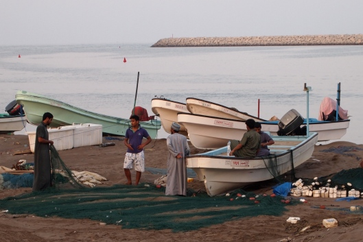 fishermen and their nets