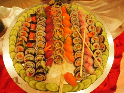 a banquet of sushi