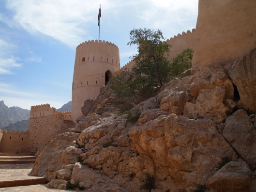 Nakhal Fort is built on a foundation of solid rock