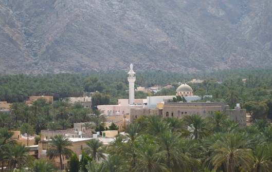 The view of the Nakhal mosque from the fort