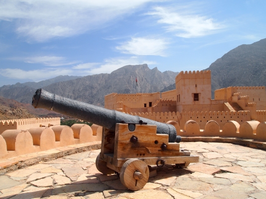 Canon at Nakhal Fort