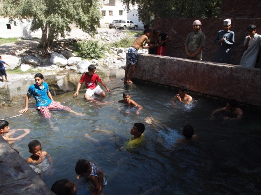 Ain a'Thawwarah hot springs, full of Omani boys