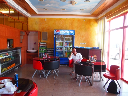 a restaurant in Nakhal where we have some lunch