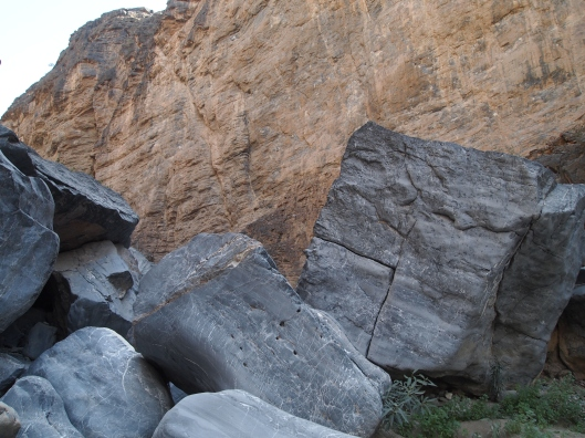 it looks as if these boulders were flung here by some angry being