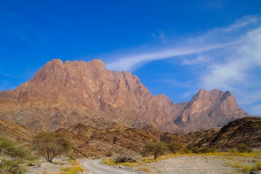the view on our way out of Wadi Bani Awf