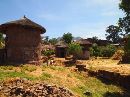 tukul huts in Lalibela, Ethiopia