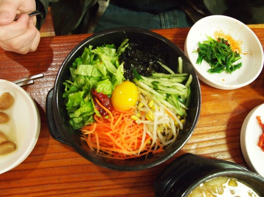 Korean lunch of bibimbap
