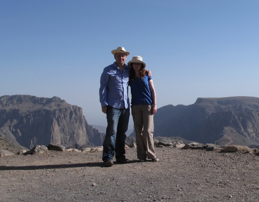 Andrew and Sarah from Ireland at Jebel Akhdar
