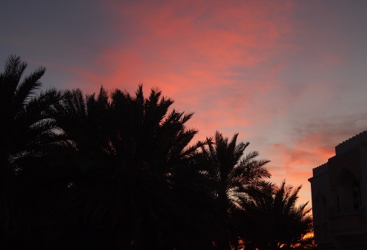 sunset out my back door at the Abu Nooh Building