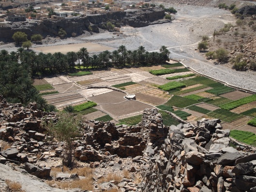 view of fields from old Ghul village