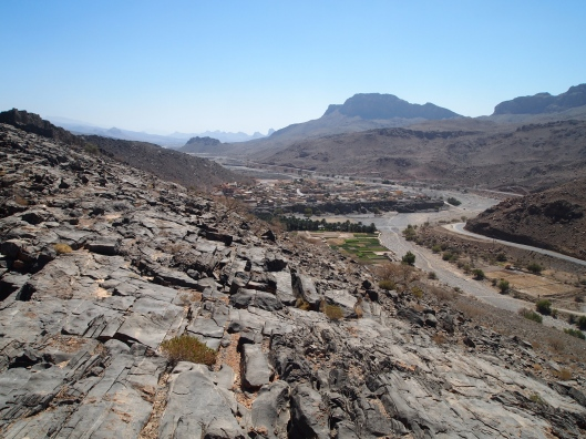 the view into Wadi Ghul from above old Ghul village
