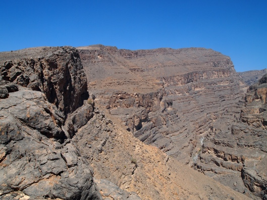 "Finally, the ridge of An Nakhur Gorge, Oman's ""Grand Canyon"""