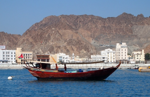 a dhow at the harbor