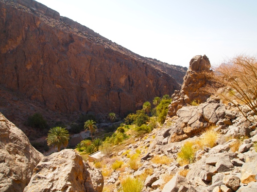 heading down into the wadi