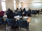 my students working on exercises