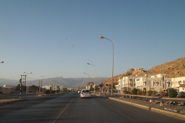 driving home to Nizwa after shopping at Lulu