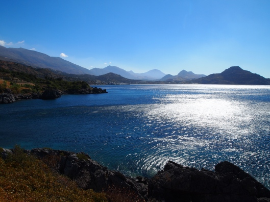 a bay off the southern coast of Crete, in Plakias