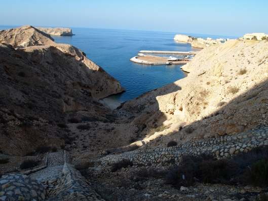 a small bay on the coast of Oman