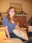 Sarah at her Nana's house