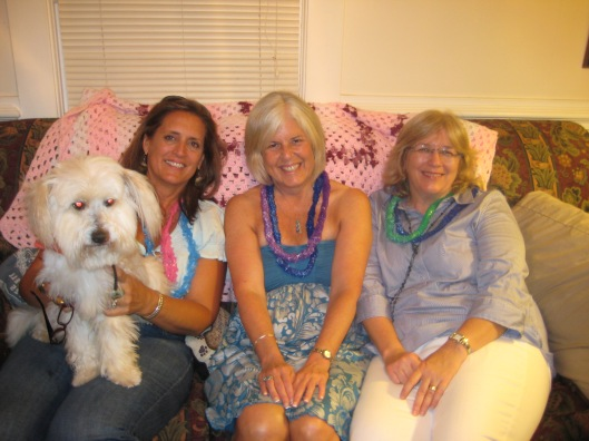 Rosie, me and Martha at Rosie's brother's house in August 2009