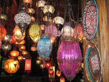 lamps in Istanbul, Turkey