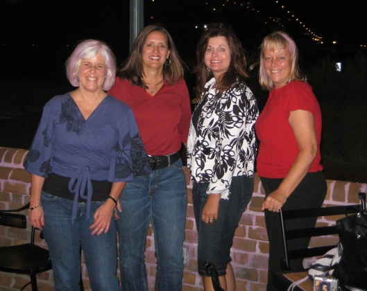 me, Rosie, Charlene and Louise in Yorktown, September 2007