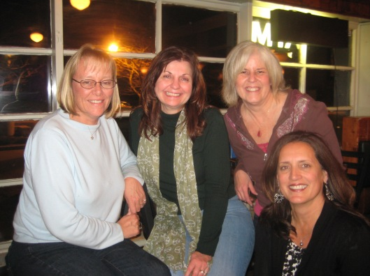 Louise, Charlene, me and Rosie in Yorktown in February 2009