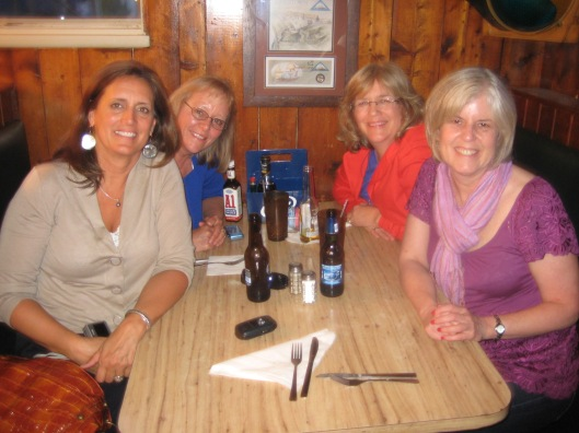 Rosie, Louise, Martha and me in Yorktown in April 2009