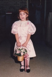 Sarah as flower girl at Mike's and my wedding