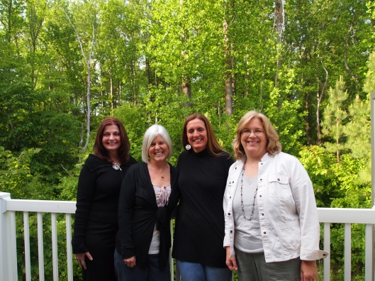Charlene, me, Rosie and Martha in May 2011