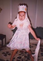 Sarah plays dress up